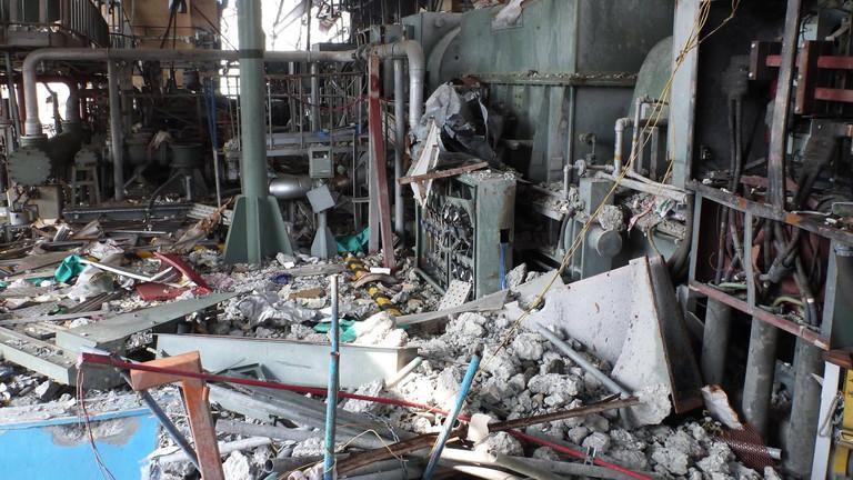 Zerstörung im Atomkraftwerk Fukushima Daiichi (10.06.2011)