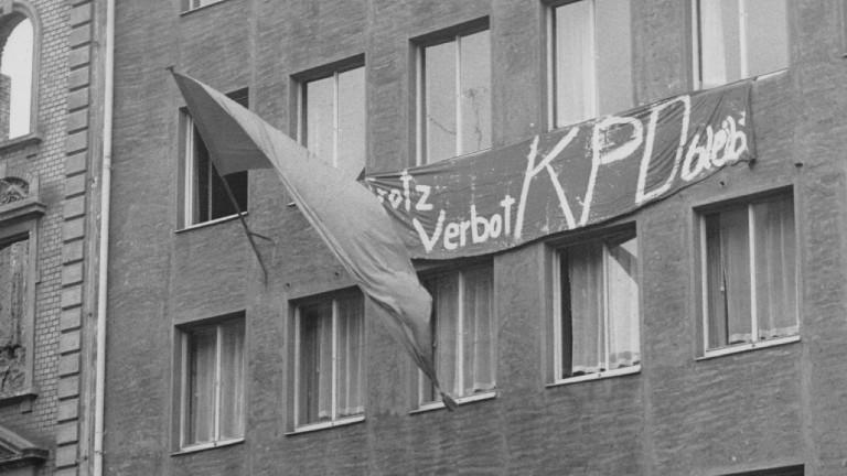 Westdeutsches Hauptquartier der KPD in Düsseldorf am 17.08.1956