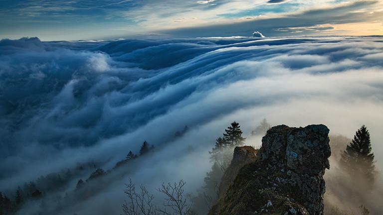 Nebelspektakel, Alpen