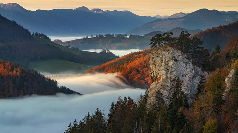 Nebellandschaft, Alpen