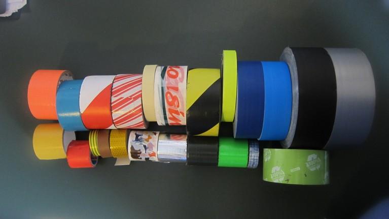 Ein Teil der Tape-Sammlung von Moderator Moritz Metz