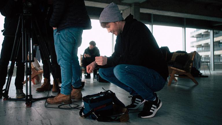 Bei der Arbeit: Autor und Regisseur Jan Kreuser