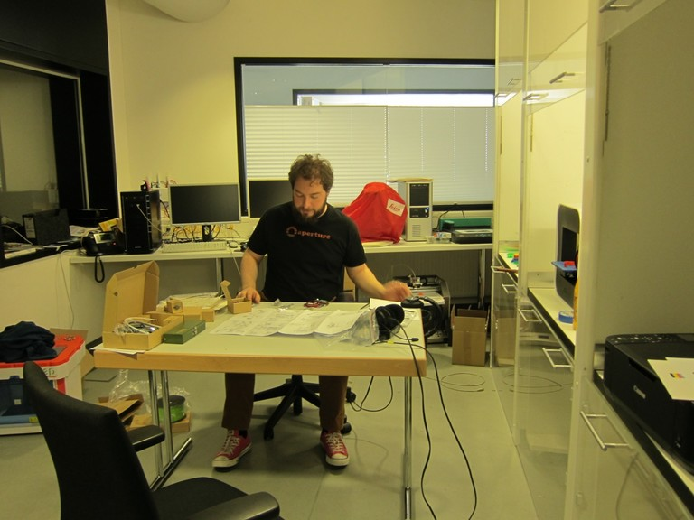 Philip Steffan im c t-Druckertestlabor