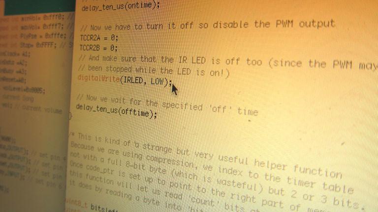 Jetzt muss der Arduino mit den Ausschaltcodes programmiert werden.
