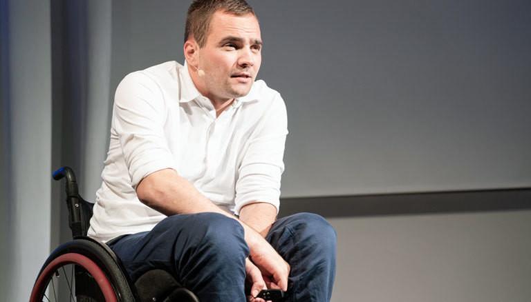 Sebastian Wächter auf der Bühne