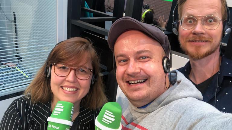 Maria Lorenz, Daniel Fiene (Mitte) und Herr Pähler - live auf der re:publica