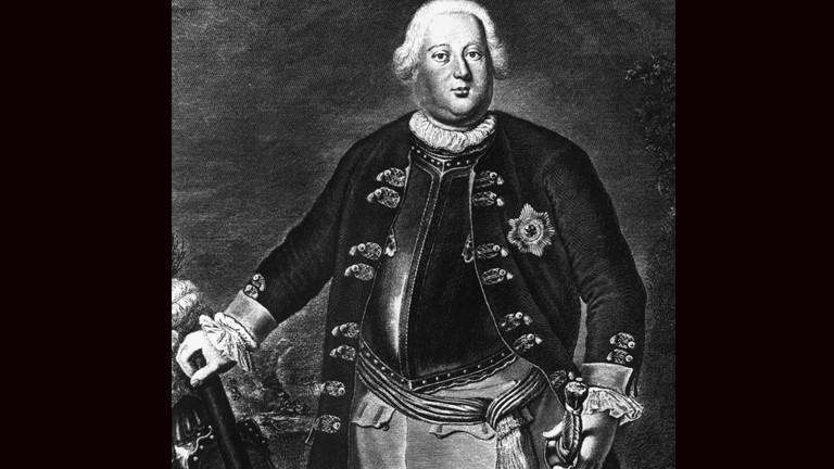 Friedrich I. in einem alten Stich.
