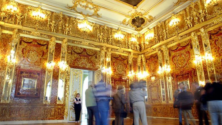 Sieht aus wie das Original - die Rekonstruktion des Bernsteinzimmers.