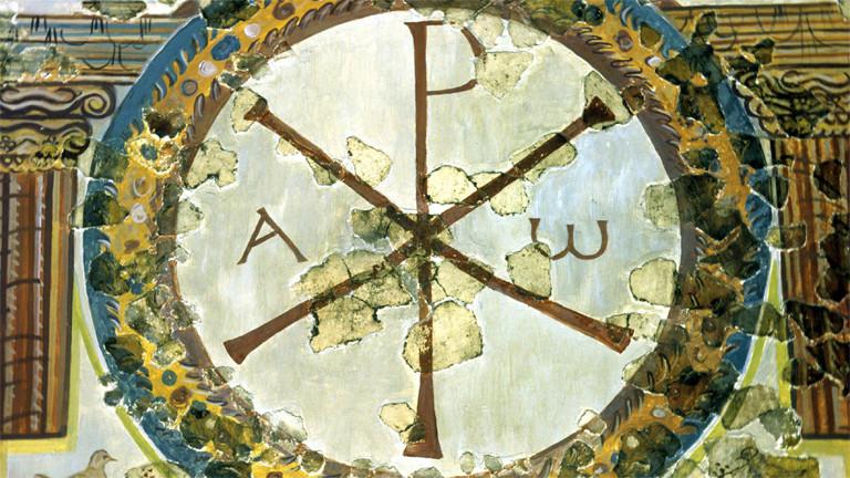 Ein Christogramm als Mosaik