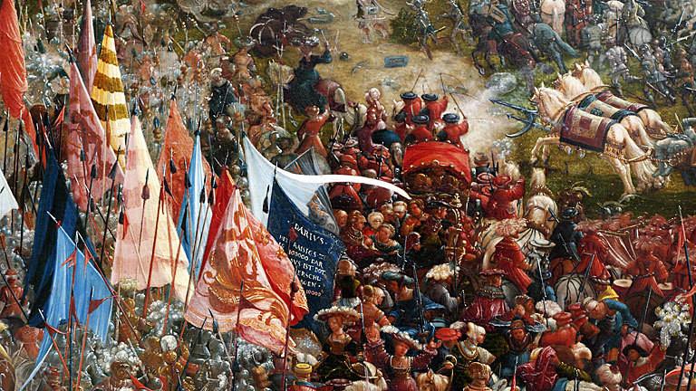 Albrecht Altdorfer: Die Schlacht von Alexander bei Issos (1529), Malerei in der Alten Pinakothek in München