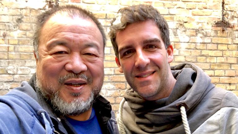 Zwei Männer auf einem Selfie