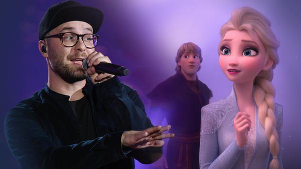Collage: Mark Forster auf der Bühne und Elsa aus der Eiskönigin 2