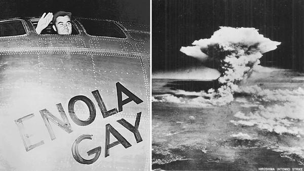 Ein Atompilz über der Stadt Hiroshima