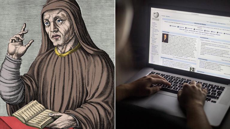 Alkuin, Erfinder unserer Schrift und der ersten Form von Wikipedia