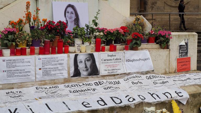 Das Grab der maltesischen Journalistin Daphne Caruana Galizia