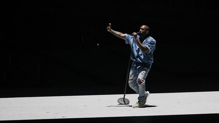 Kanye West bei einem Auftritt im Juli 2015