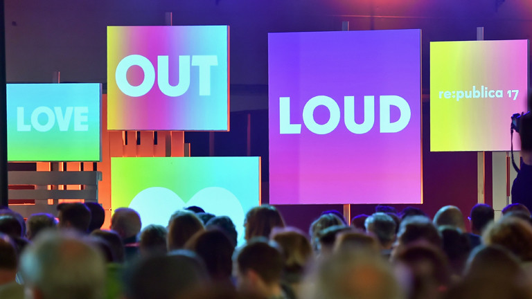 """Love out loud"" war das Motto der Republica 2017."