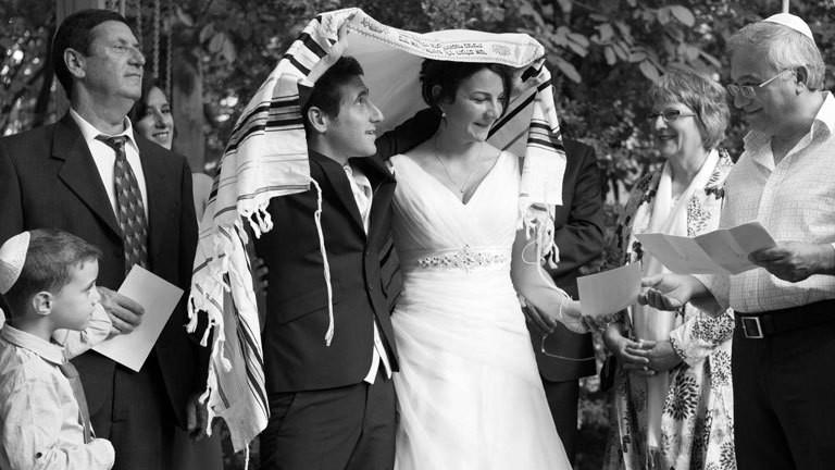 Jüdische Trauung von Claudia Schwarz und Shaul Bustan