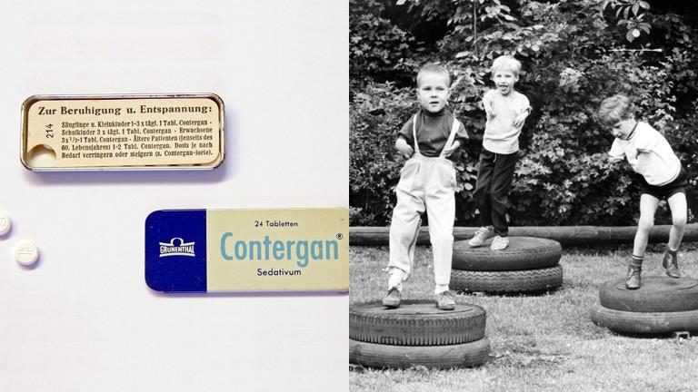 Das Medikament Contergan und durch Contergan geschädigte Kinder.