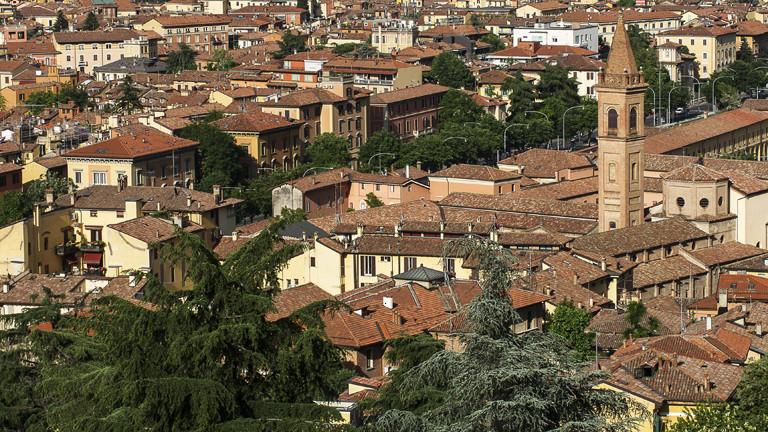 Aufnahme der Stadt Bologna
