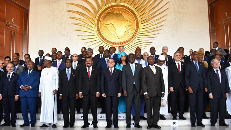 Die 33. Zusammenkunft der Afrikanischen Union im Jahr 2020.