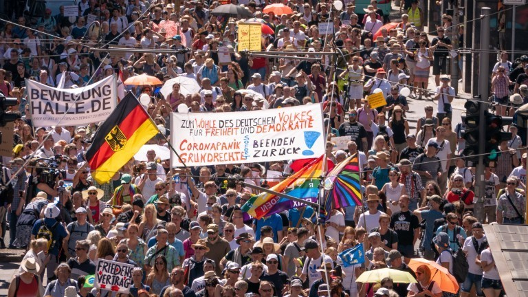 Corona-Demo am 1.8.2020 in Berlin.
