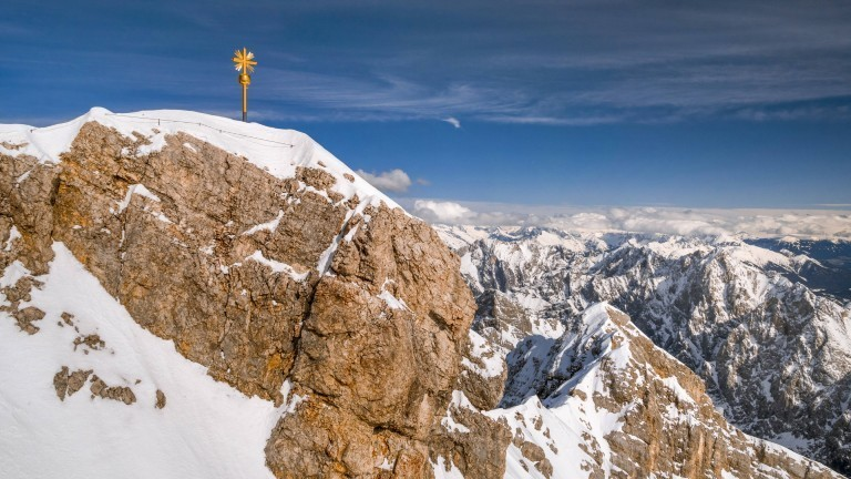 Der Gipfel der Zugspitze.