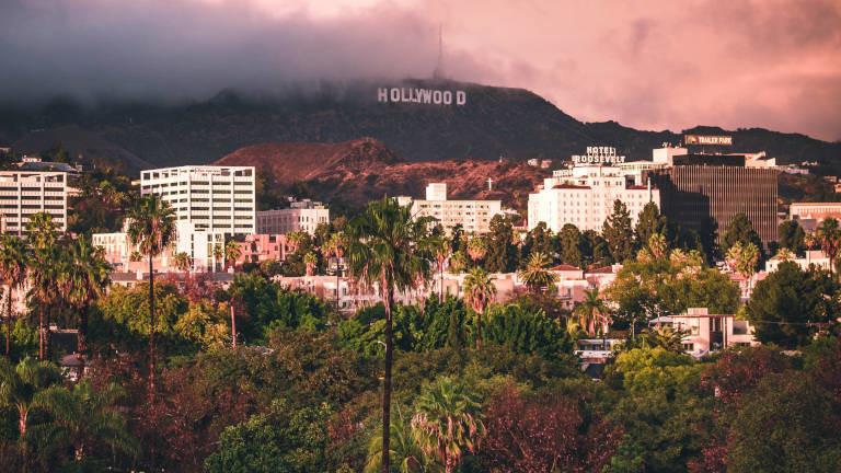 Ein Panorama von Hollywood