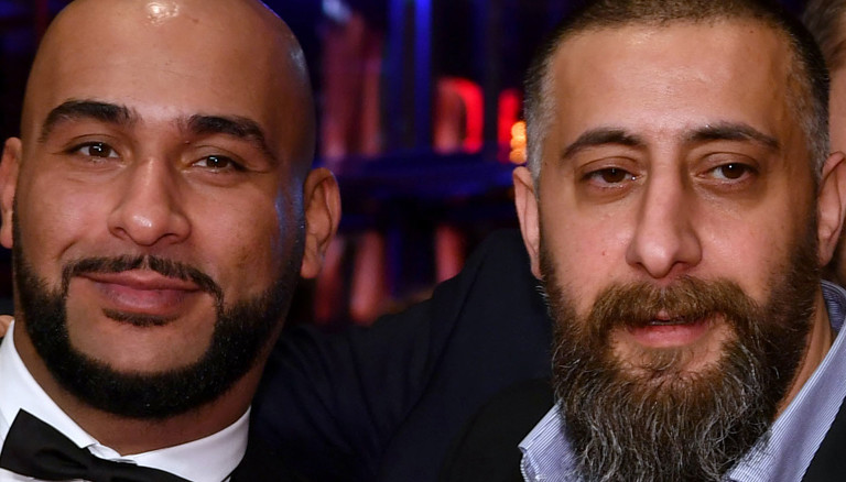 Hanno Hackfort , Veysel Gelin, Kida Khodr Ramadan, Richard Kropf in einer Reihe auf der Berlinale 2017