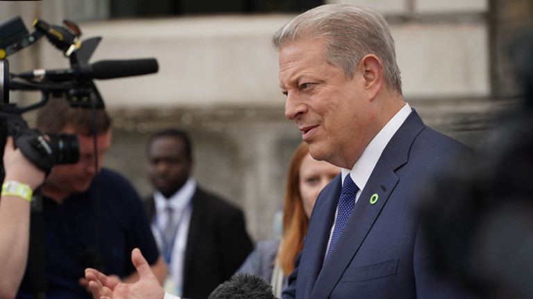 Al Gore vor einer Premiere in London