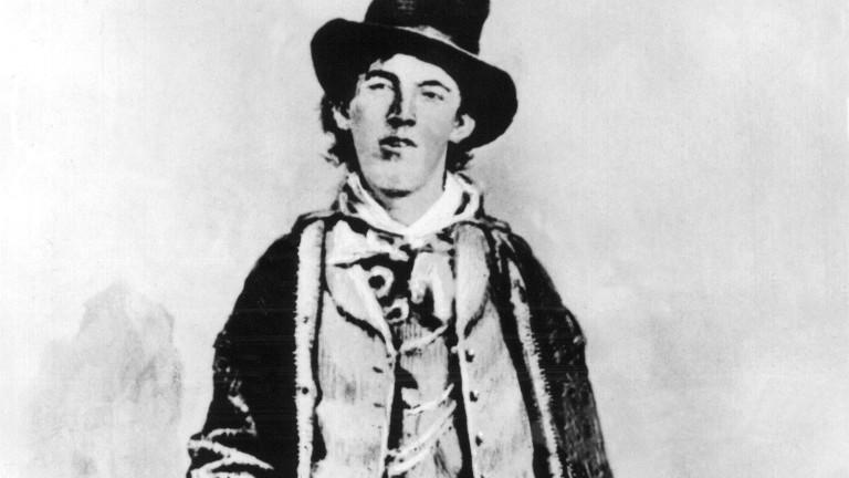 Die nachgestellte Darstellung soll Billy the Kid zeigen, der während des Wilden Westens ein Revolverheld war.