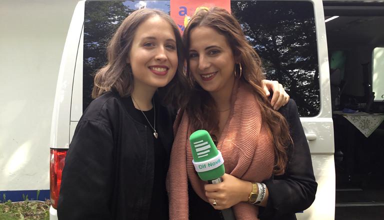 Reporterin Susan Zare und Alice Merton