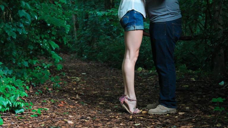 Ein Paar im Herbst