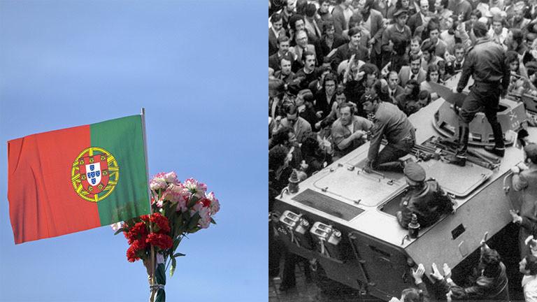 1974 markierte die Nelkenrevolution einen friedlichen Umbruch in Portugal.