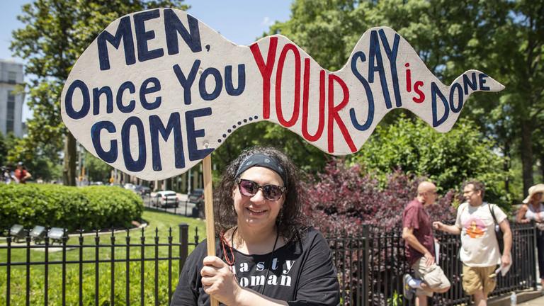 Protest gegen das verschärfte Abtreibungsrecht in Georgia