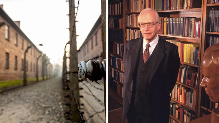 Eingang zum KZ Auschwitz / Der Historiker Ernst Nolte