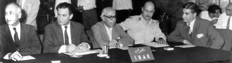 The Founding Members of OPEC during the first OPEC Conference, Baghdad, Iraq, September 10-14, 1960. In Pic: HE Dr Tala'at Al-Shaibani, Head of Delegation of Iraq.