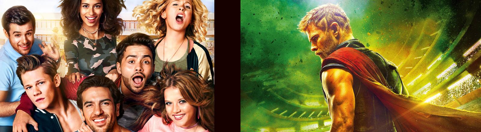 Collage aus zwei Filmplakaten