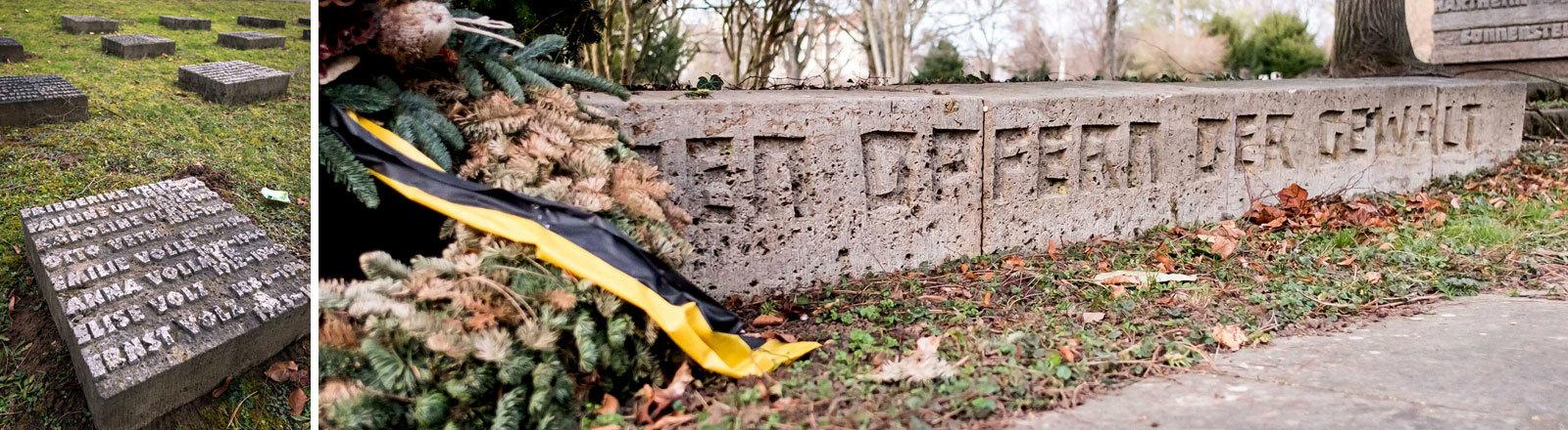 Den Opfern der Gewalt. Am Hauptfriedhof Stuttgart erinnert ein Gräberfeld an 271 Euthanasieopfer.