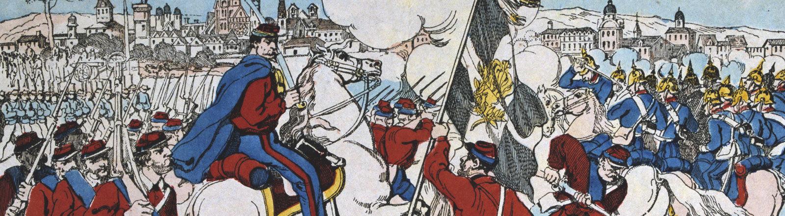 Guiseppe Garibaldis freiwilligen Soldaten.