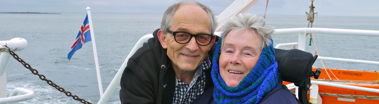 Die Eltern von Fanny Bräuning im Urlaub