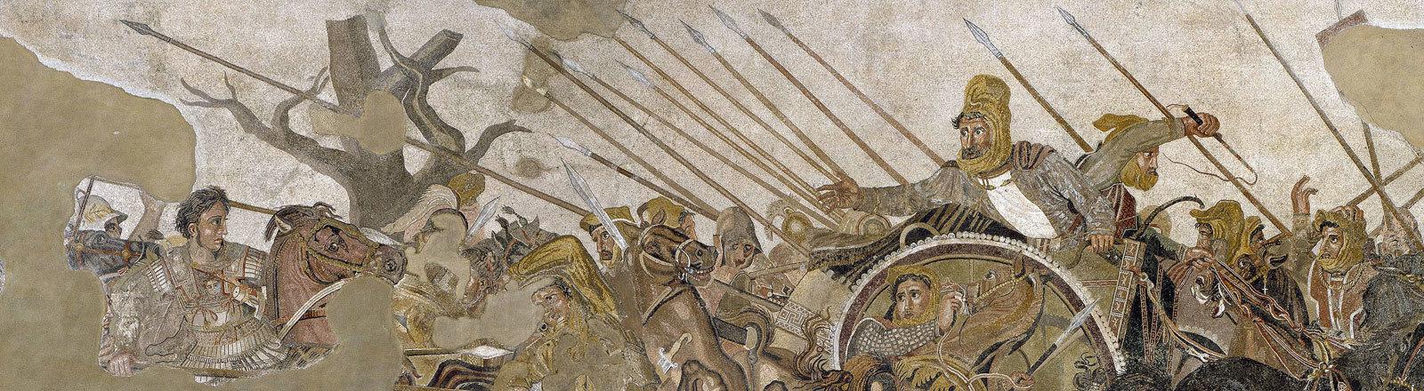 Die Schlacht von Issos, Mosaik aus Pompei (Archäologisches Nationalmuseum, Neapel)