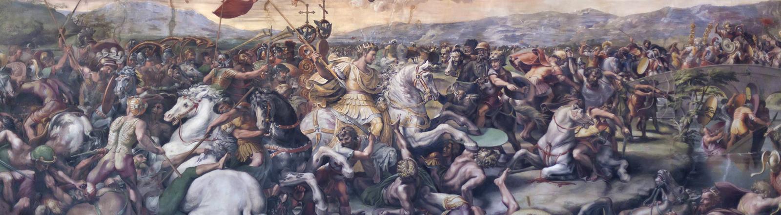 Schlacht Konstantins gegen Maxentius - Wandbild von Raffael