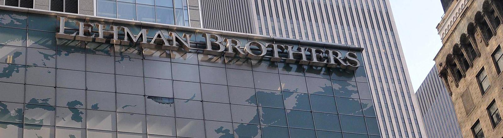 Blick auf die Bank der Lehman Brothers