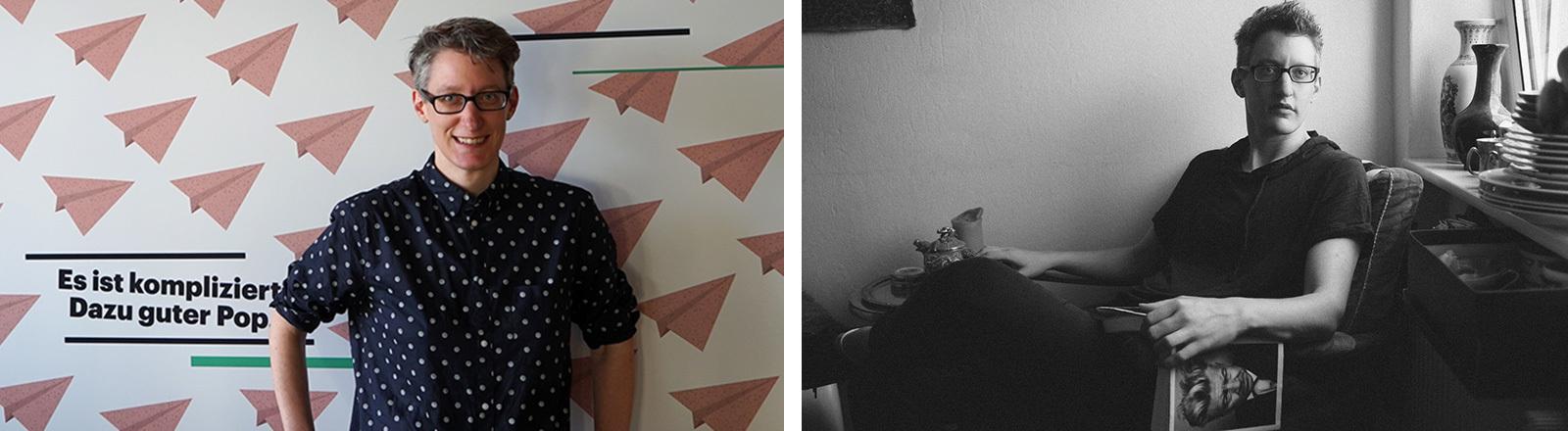 Linus Giese in zwei Bildern
