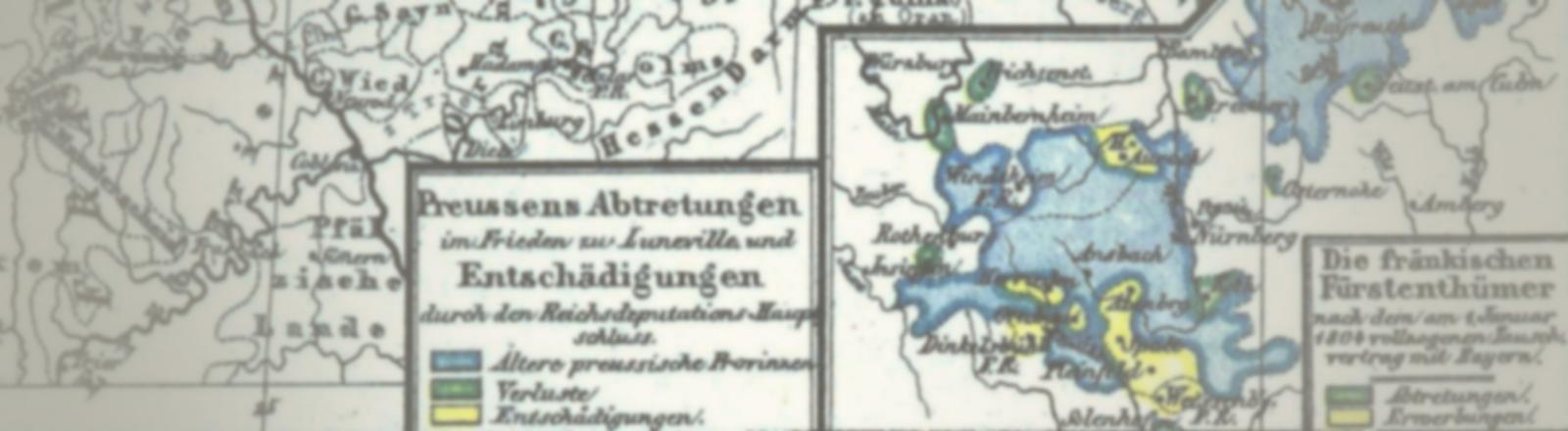 Preußens Abtretungen im Frieden zu Lunéville und Entschädigungen durch den Reichsdeputationshauptschluss