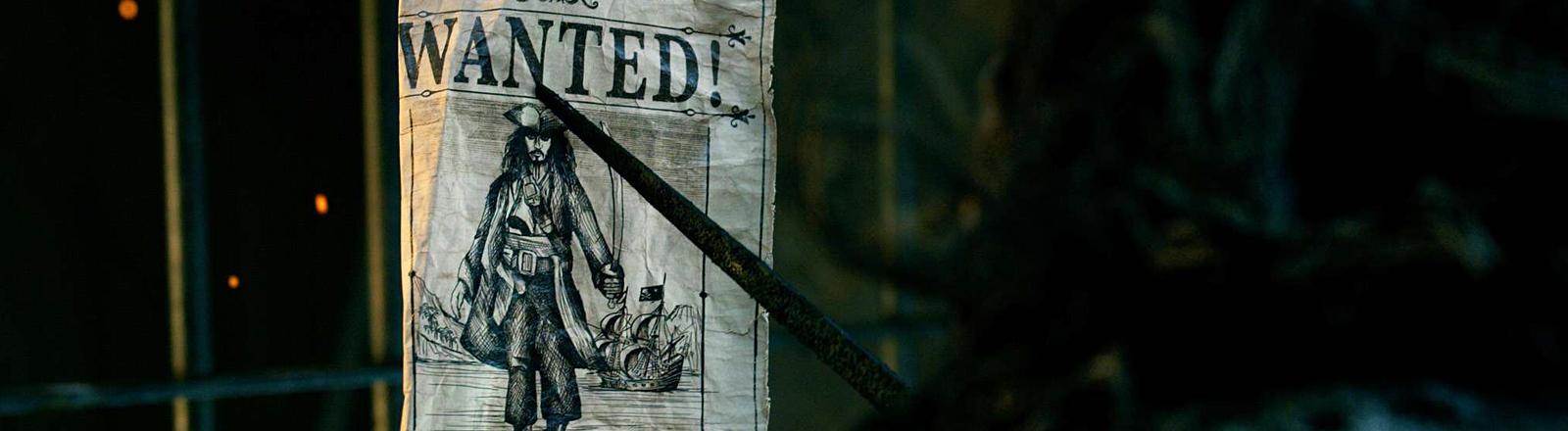 Fahndungsplakat für einen Piraten