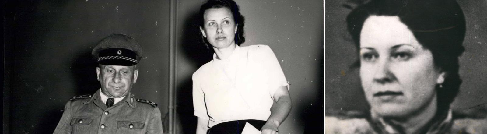 Olga Robine alias die Rote Olga vor ihrem Prozess in Lüneburg