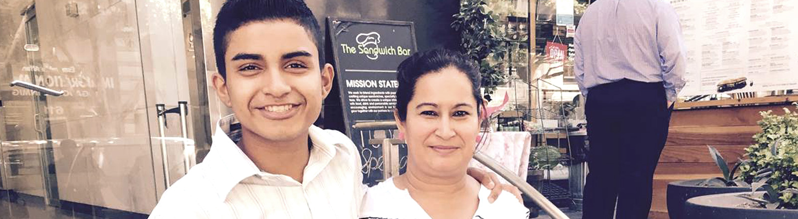 Lidia Nunez mit ihrem Sohn Victor