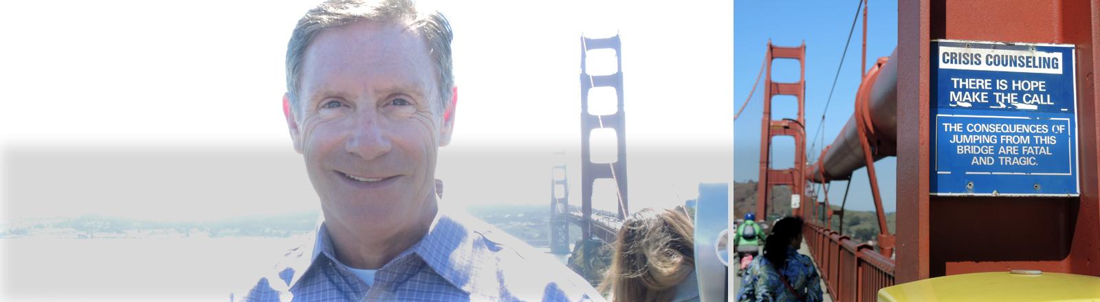 Kevin Briggs vor der Golden Gate Bridge